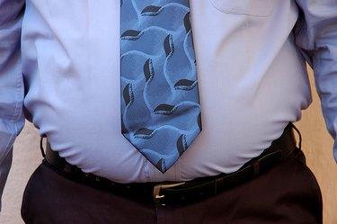 An overweight businessman