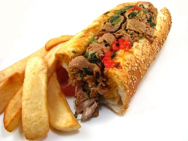 Cheesesteak with French Fries