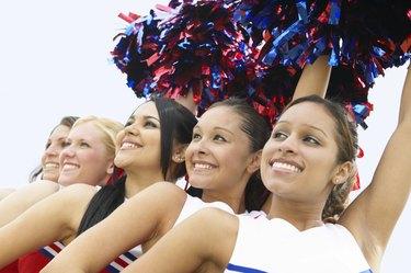 Group of Cheerleaders in a Line