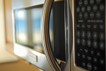 Microwave- focus on handle