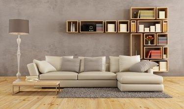 Living room with elegant sofa