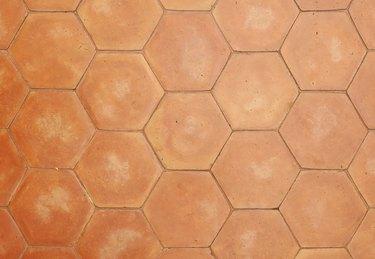 hexagonal clay tiles