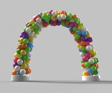 Rainbow color Balloon arch decoration