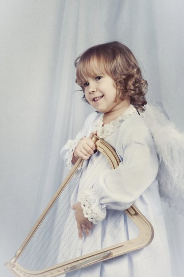 Pretty girl with wings, christmas