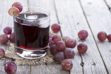 Chilled Red Grape Juice