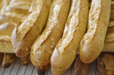 Traditional french baguettes