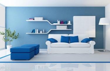modern blue interior