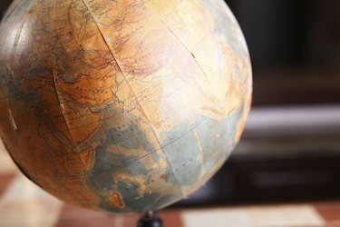 Old globe of the world