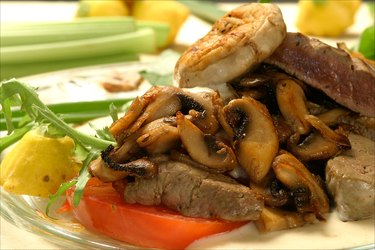 Beef liver and mushrooms