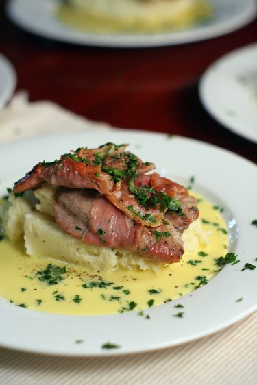 Veal Scallopini with Beure Blanc, portrait