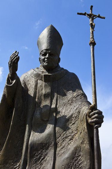 Pope John Paul II Statue in Suwalki - Poland