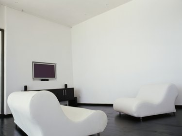 couch and a television in a living room