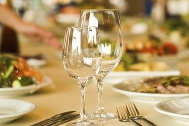 serving in restaurant