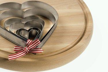 Heart-shaped baking cutters