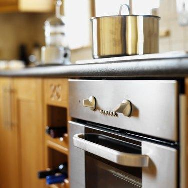 utensil on a burner in the kitchen