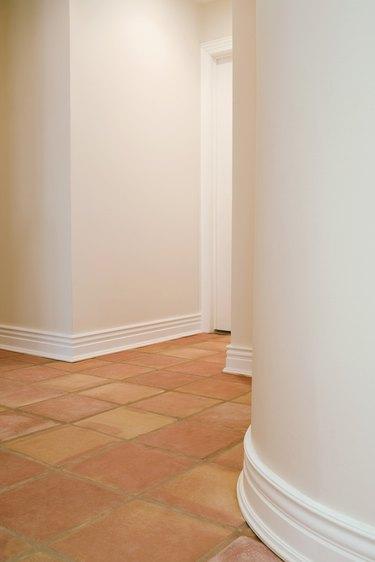 Tile floor and walls
