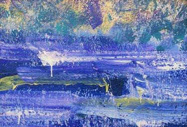 Impressionistic painting texture