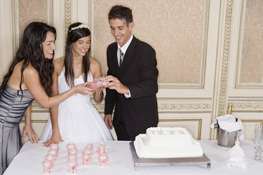 Lighting candles for quinceanera