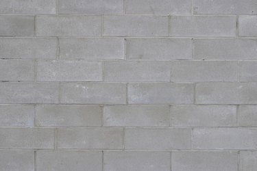 Wall of cinder blocks