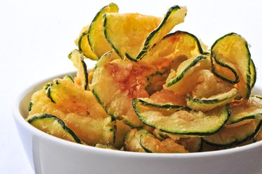 zucchini chips in a bowl