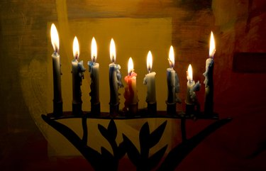 Hanukkah Menora and candles
