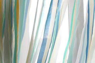 tulle curtains closeup