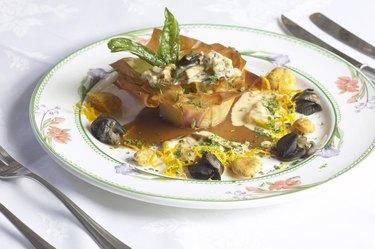 Cuisine on a plate