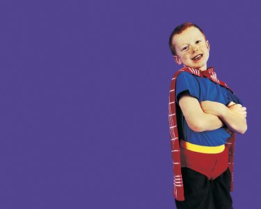 Young Boy Dressed Up as a Superhero