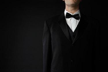 Man posing in formal attire