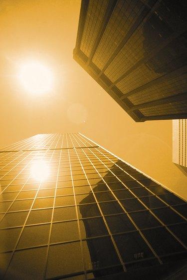 Sunlight between office buildings , Denver , Colorado