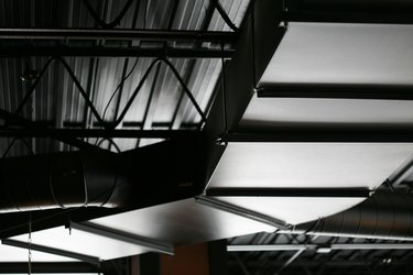 Duct on ceiling in warehouse