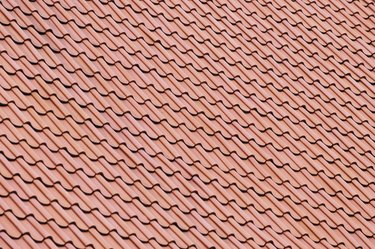 High angle view of shingles on a rooftop