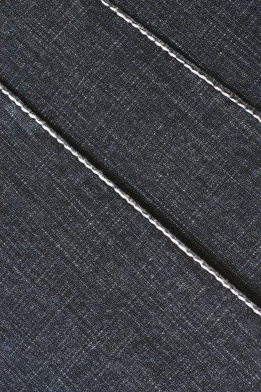 Close-up of denim pattern