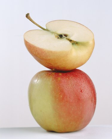 Apples can be frozen whole when cored first.