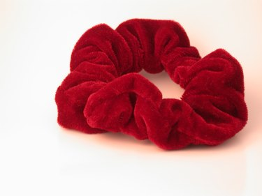 Red Velvet Hair Scrunchy