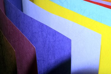 colorful paper.