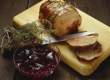 Rolled Roast Pork with Cranberry Jelly