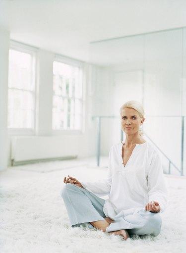 Portrait of a Mature Woman Meditating