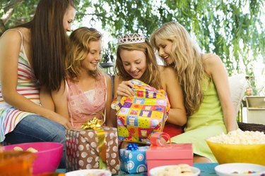 Teenage Girls at a Birthday Party