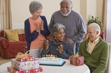 People at birthday party