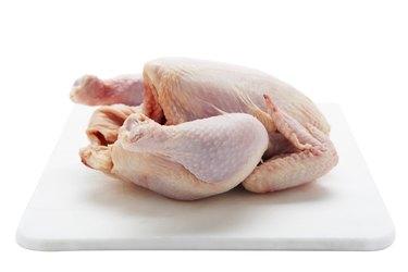 Studio shot of raw chicken