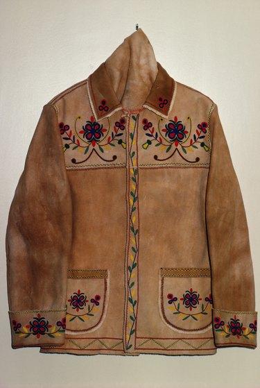 Rustic suede jacket