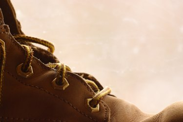 Close-up of bootlaces