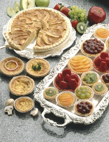 Fruit pastries and quiches