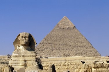 Pyramid with Sphinx, Egypt