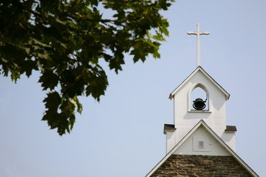 Church bell tower, New Brunswick, Canada