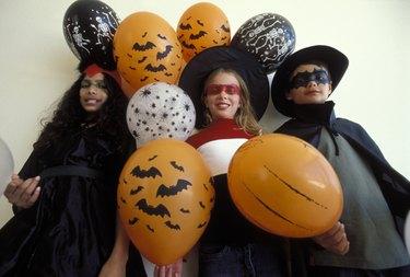 Children dressed in Halloween costumes