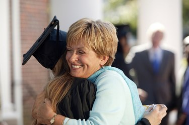 Graduate with mother