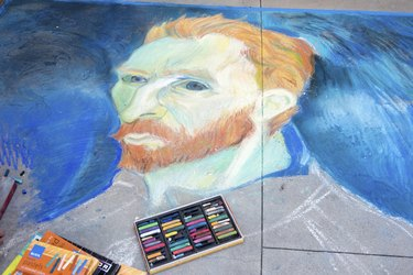 Van Gogh Chalk Drawing