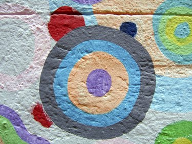 Circle painted on a wall